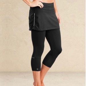 Atleta Black Contenders 2 in 1 crop leggings szXSP